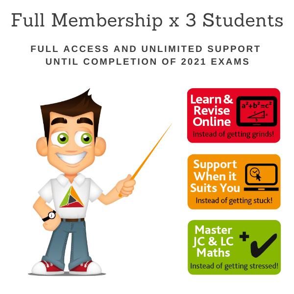 3 Students for 1 School Year – Full Membership until 15 June 2021