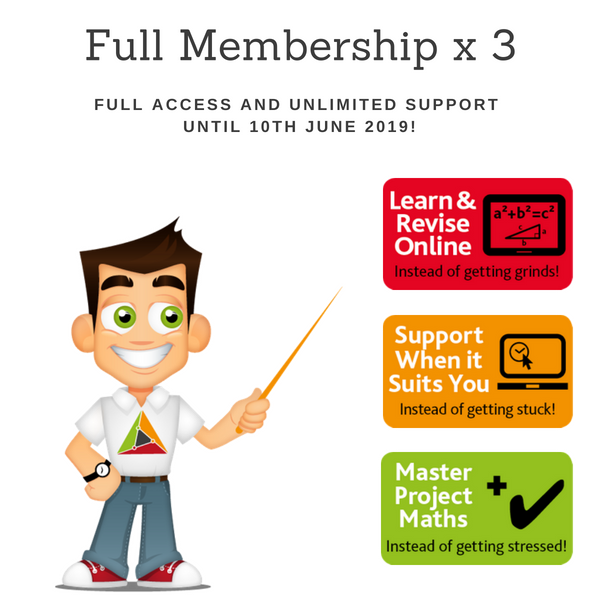 Product image – Full membership for 1 year x 3 students – June 2019