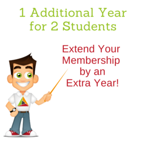 1 Extra Year of Full Membership x 2 Students!