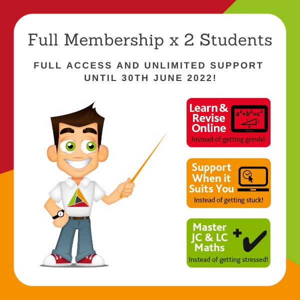 2 Students for 1 School Year – Full Membership until 30 June 2022