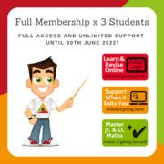 3 Students for 1 School Year - Full Membership until 30 June 2022