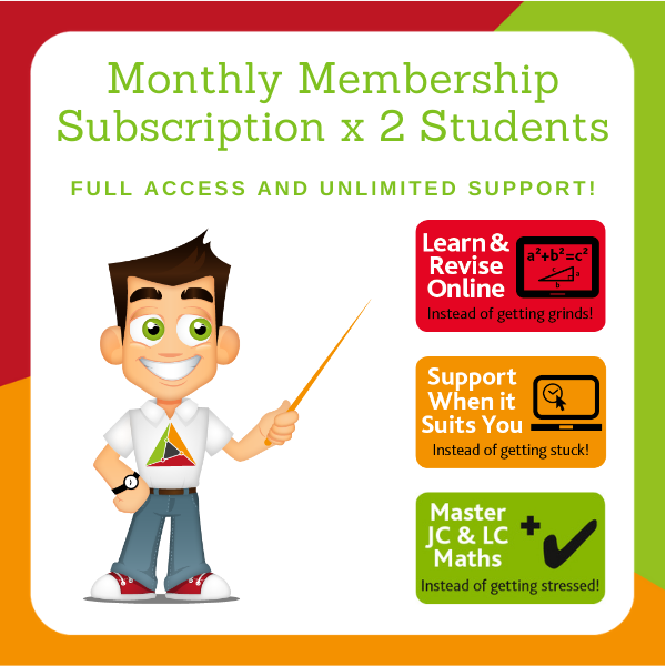 Full Membership – Monthly Subscription for 2 Students