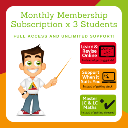 Full Membership - Monthly Subscription for 3 Students