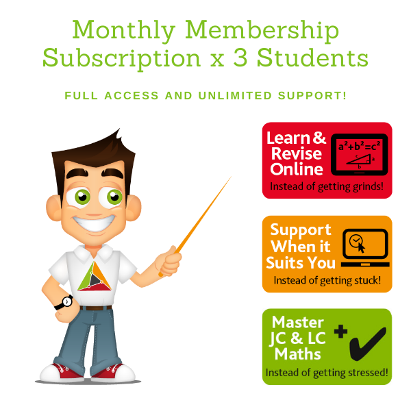 Full Membership – Monthly Subscription for 3 Students