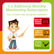 Flash Sale - Full Membership for 1 student of TheMathsTutor.ie support system until 15 June 2021
